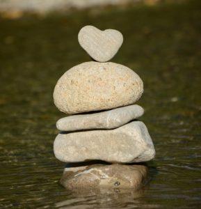 heart, water, stone heart